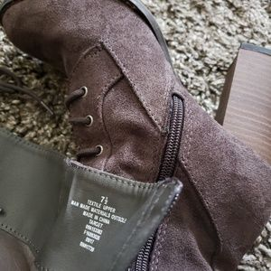Zara Shoes - A New Day - Suede Knee High Lace-Up Boots